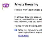 Wird der Private Modus von Firefox 3.5 aktiviert, informiert er den Benutzer welche Dinge nicht mehr protokolliert werden.