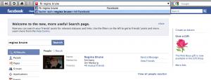 Opera: Facebook Suche