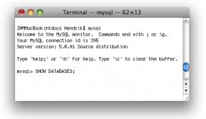 MAMP: MySQL Shell auf einem Mac