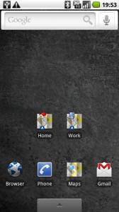 Google Navi: Shortcuts auf dem Start Bildschirm