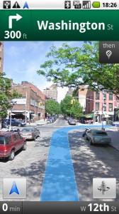 Googles Navigationssystem: Die Street View zeigte in Originalbildern wo man langfahren muss