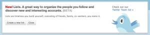 Twitter List - Wer sich einloggt kanns nicht übersehen