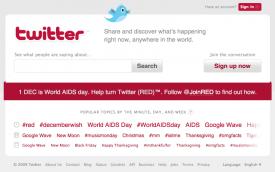 Twitter ist am 1. Dezember komplett in Rot gefärbt