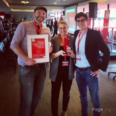 OnPage.org für Start-Up Award nominiert